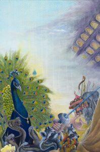 So arbeitet der Mythorealismus zum einen vordergründig mit Elementen des Symbolismus