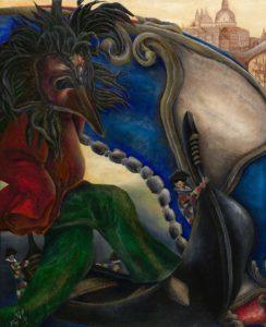 Der Mythorealismus greift die Urbilder und die Zusammenhänge von Bewusstsein und Unterbewusstsein auf